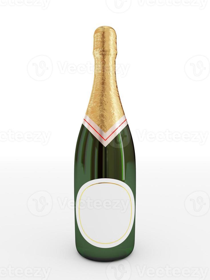garrafa de champanhe foto