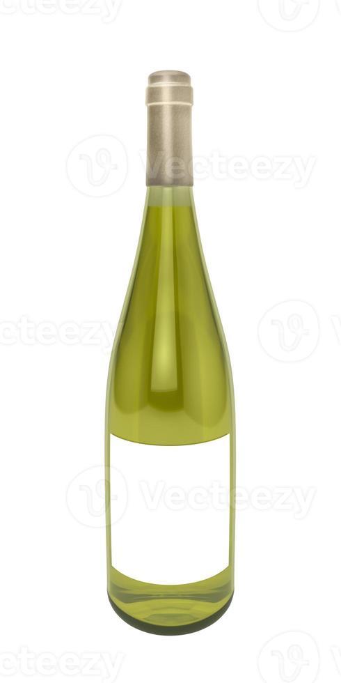 garrafa de vinho branco foto