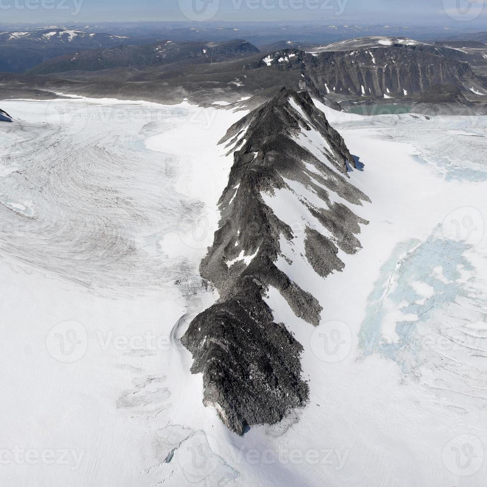 vista do cume da montanha glittertind (nação jotunheimen foto