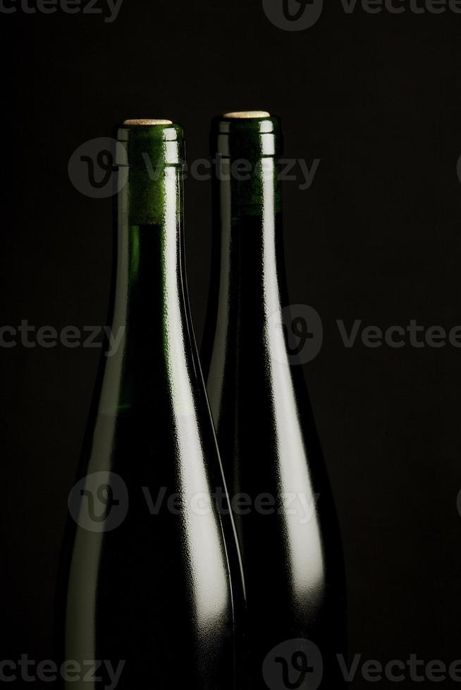 Riesling Wein Flaschen Gekühlt foto