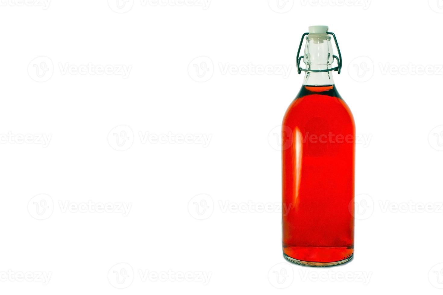 garrafa de vinho rosa foto