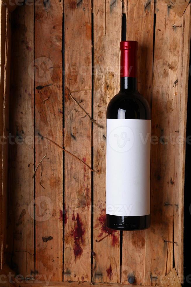 garrafa de vinho tinto foto