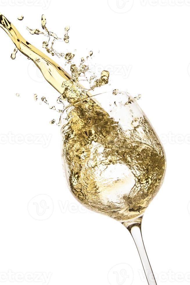 respingo de vinho branco foto