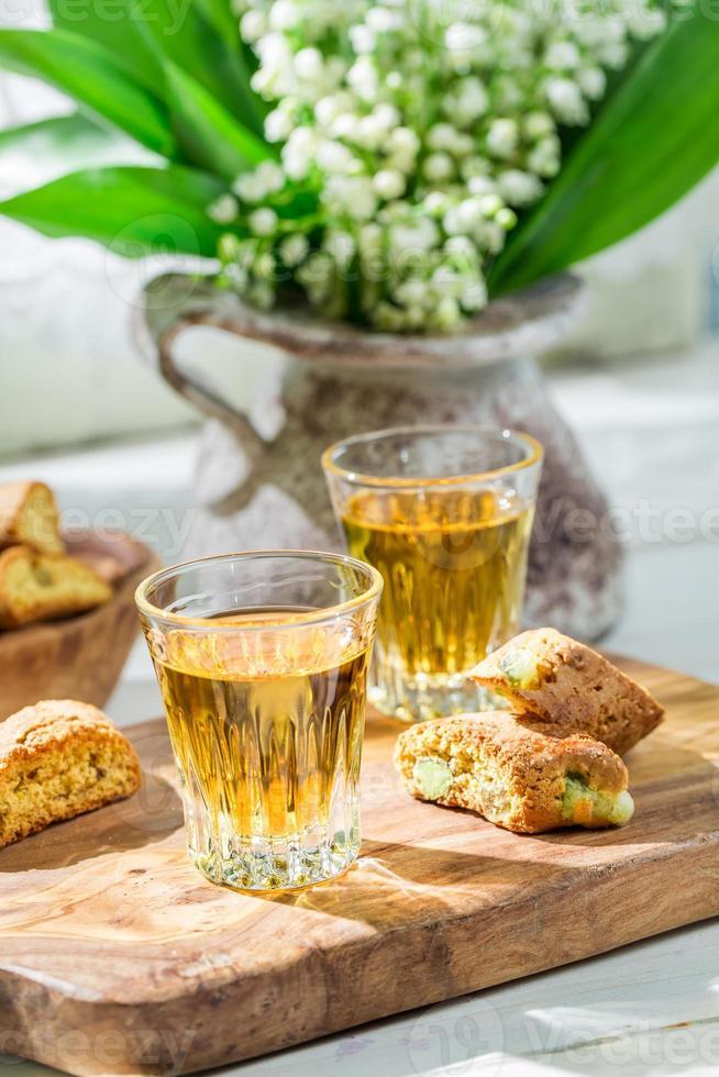 delicioso cantuccini com vin santo foto