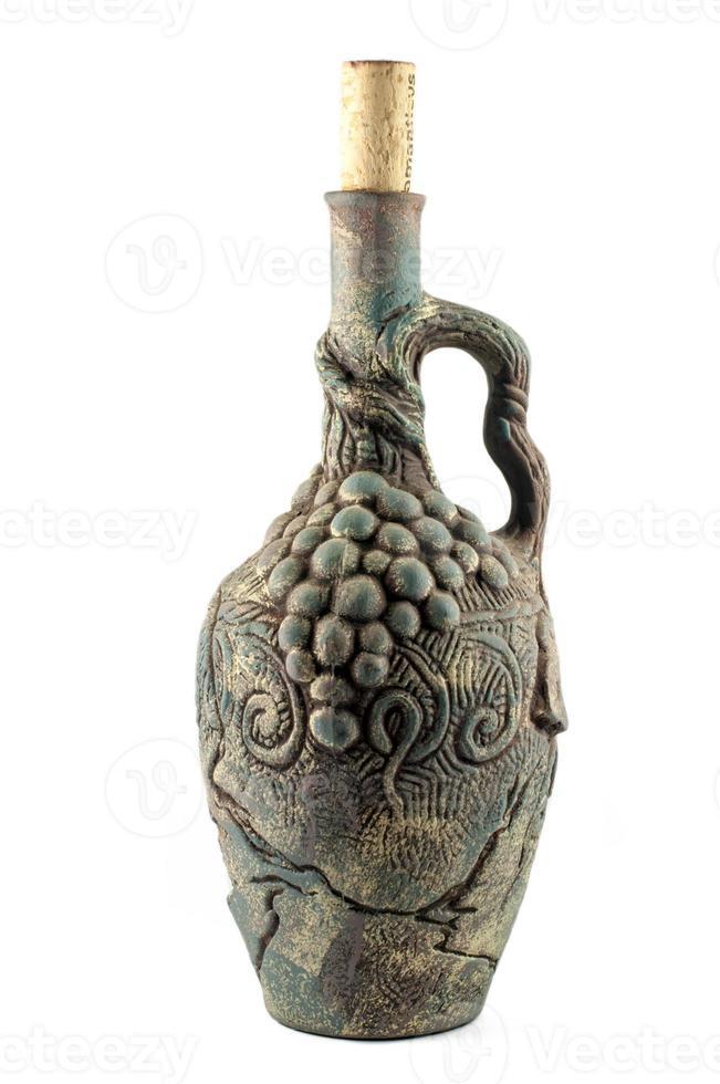 garrafa de barro de vinho foto