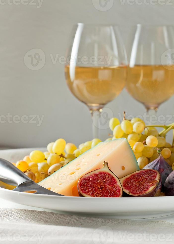 queijo com frutas foto