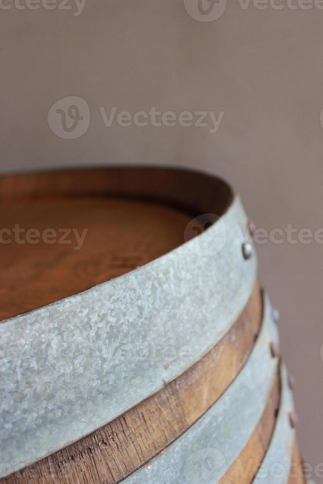 barril de vinho de perto foto