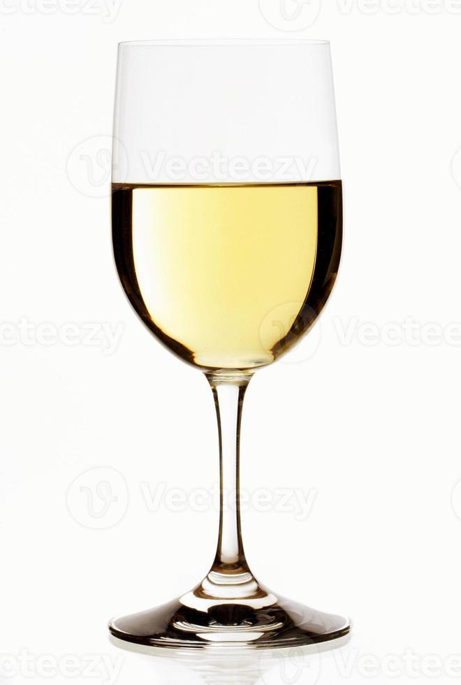 copo de vinho branco foto