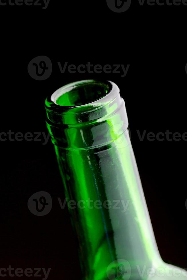 abra o gargalo da garrafa de vinho foto