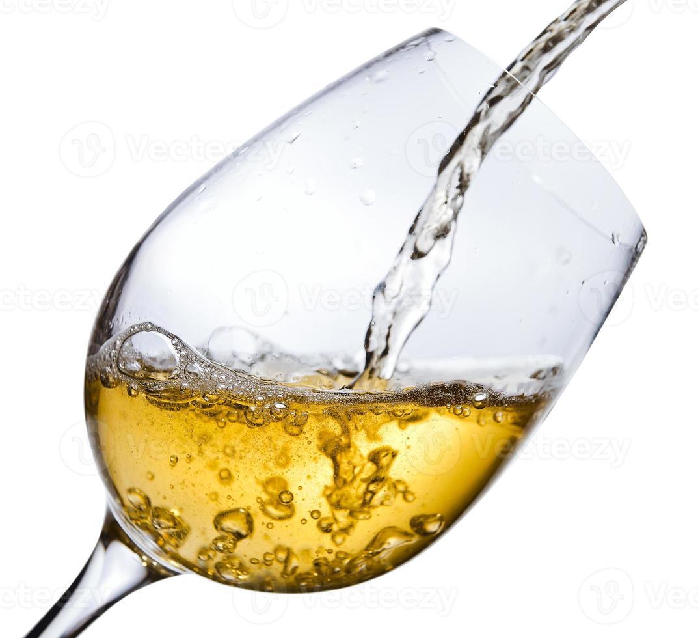 vinho branco, trajeto de recorte salvo foto