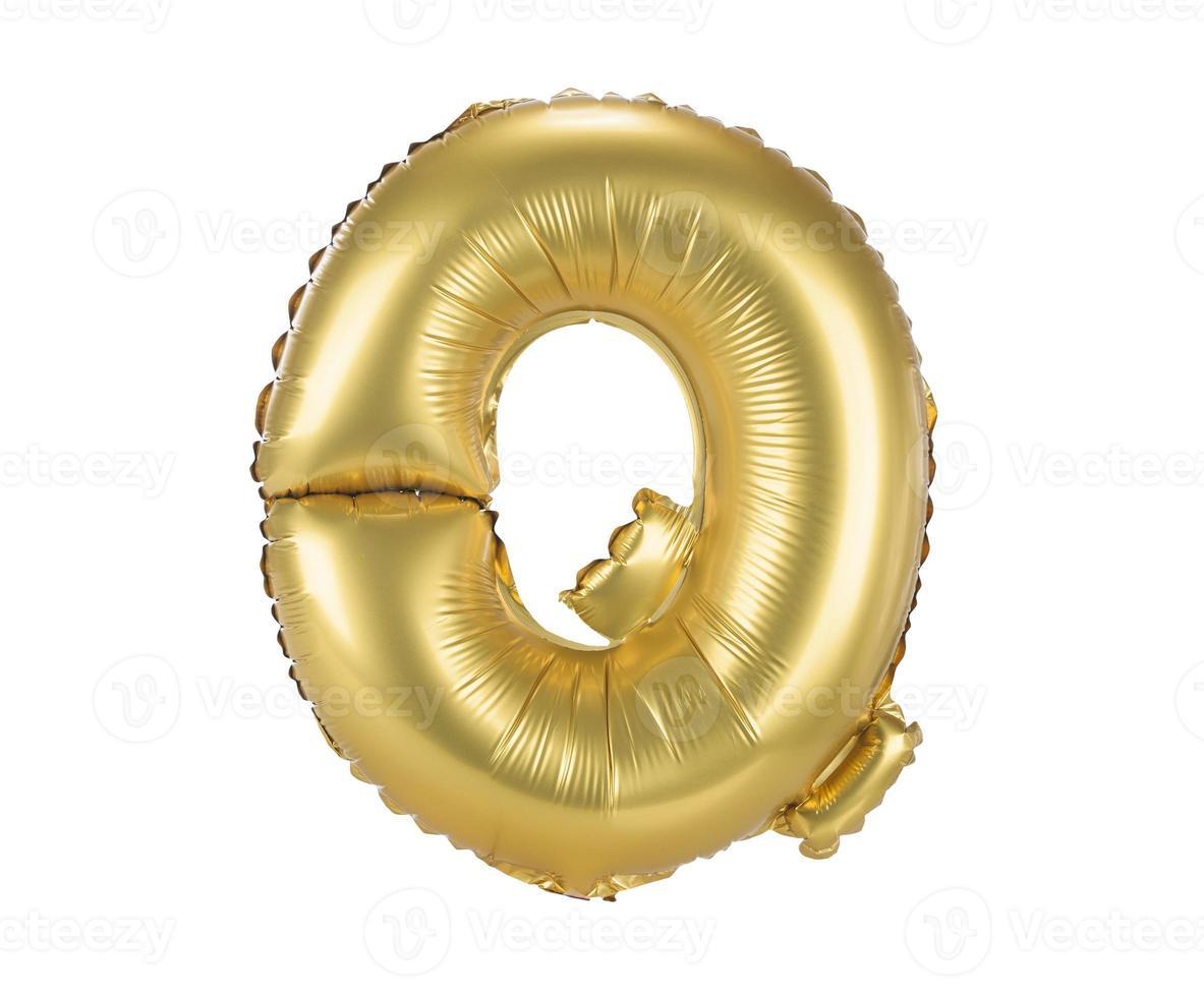 fonte balão dourado letra maiúscula q foto