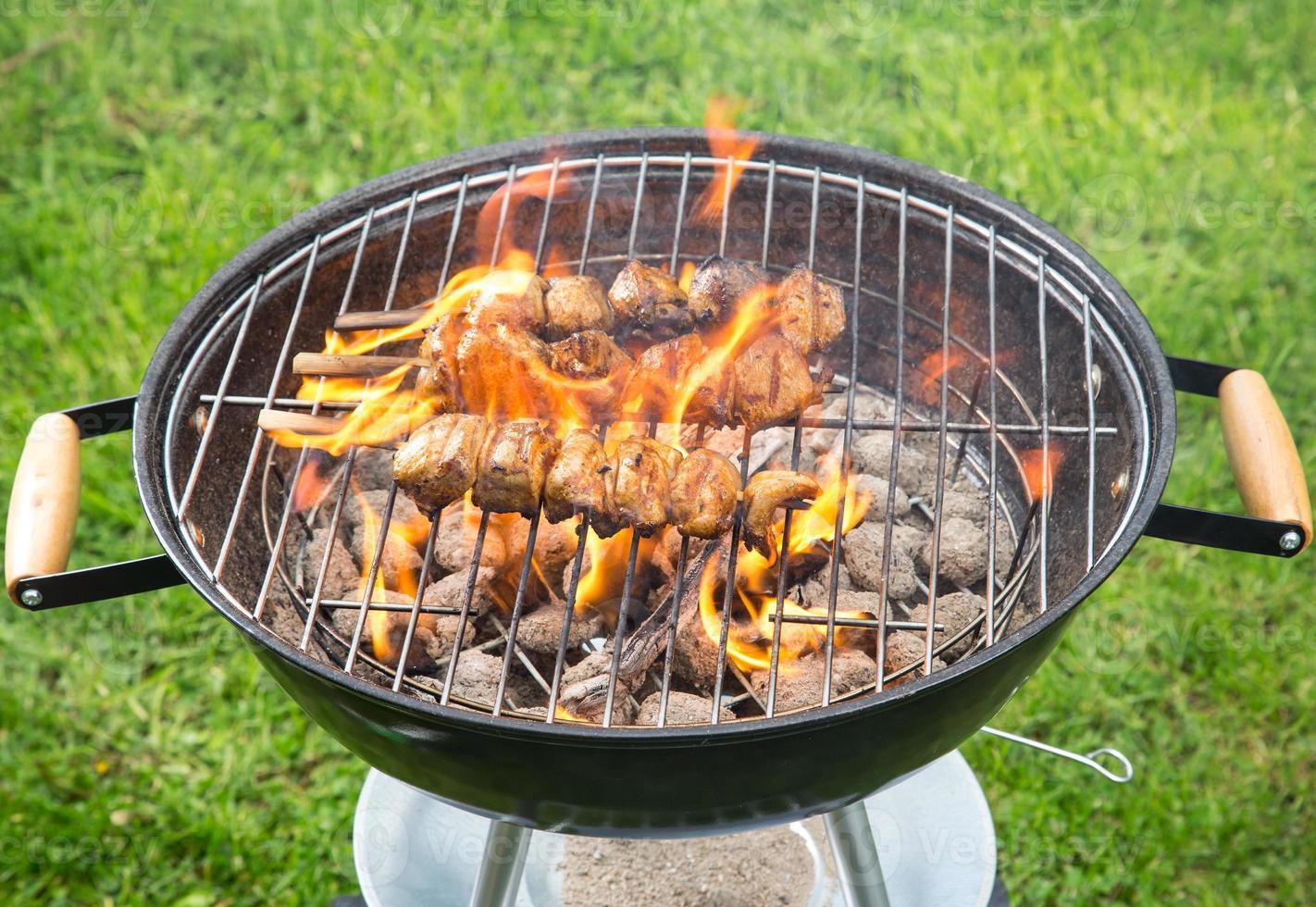 espeto de frango grelhado foto