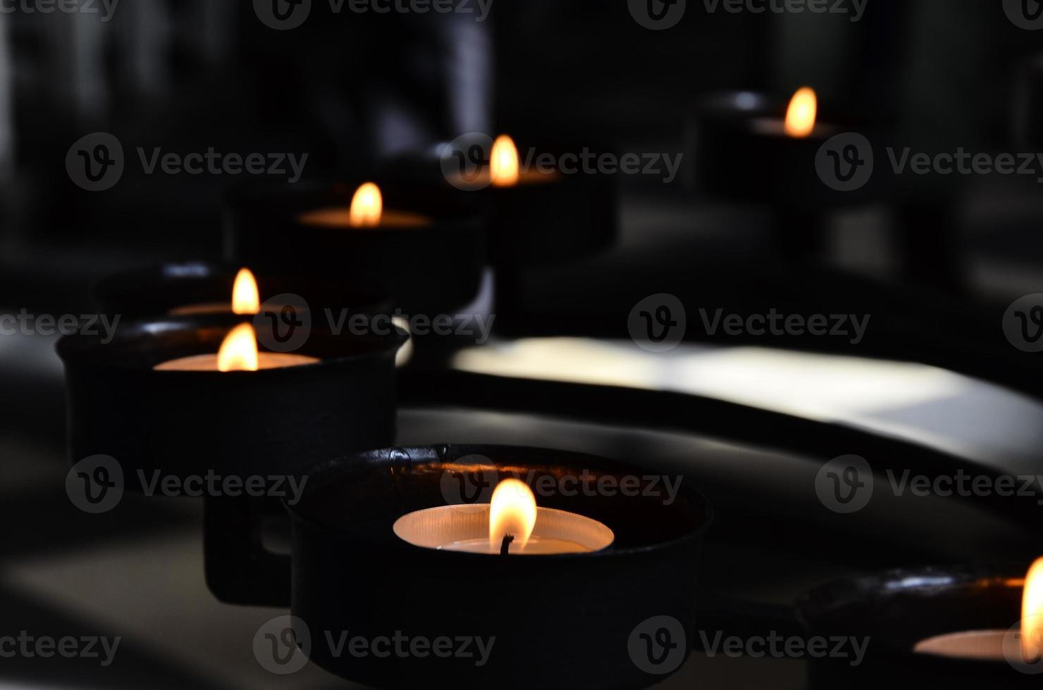 meditação com vela foto