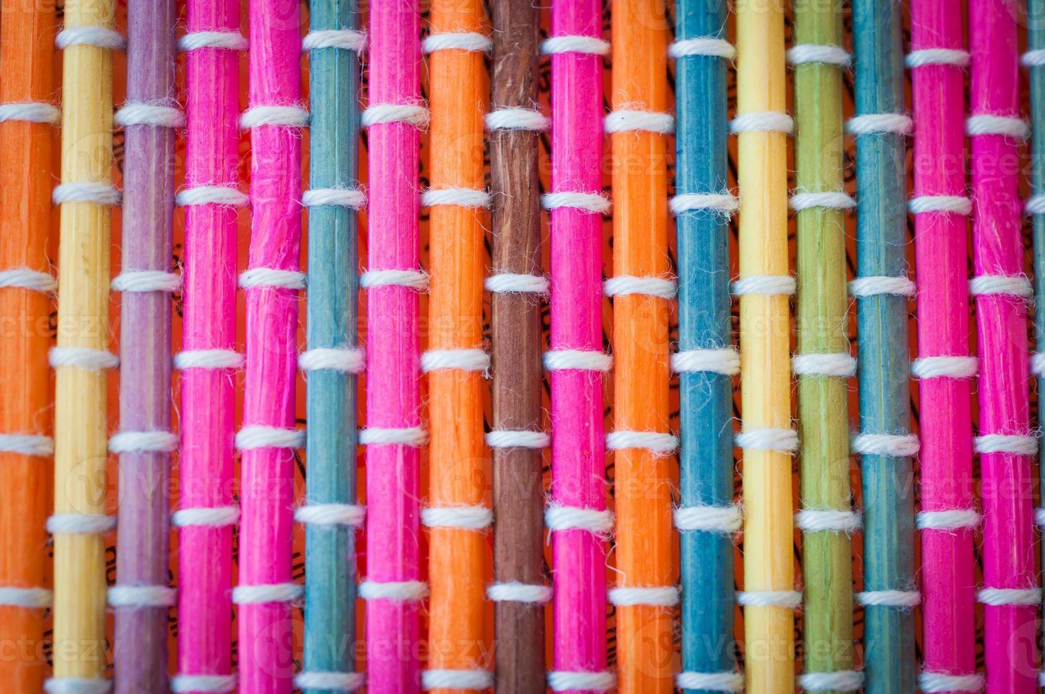 esteira de bambu, colorida foto