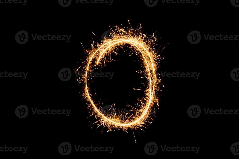 anel cintilante de círculo foto