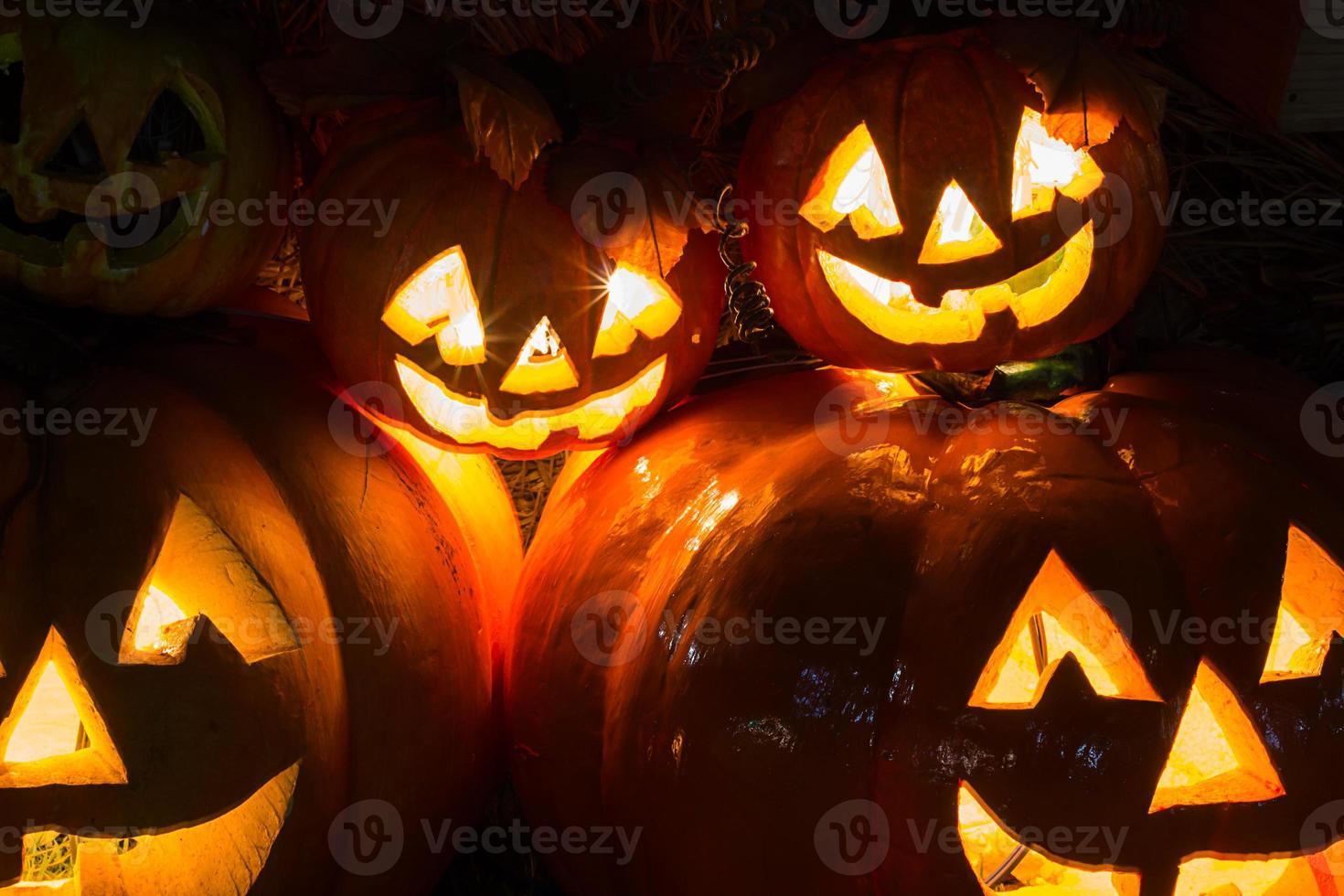 fundo de abóbora de halloween foto