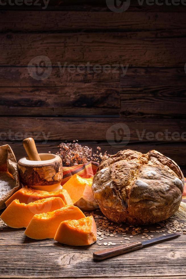 pão de abóbora foto