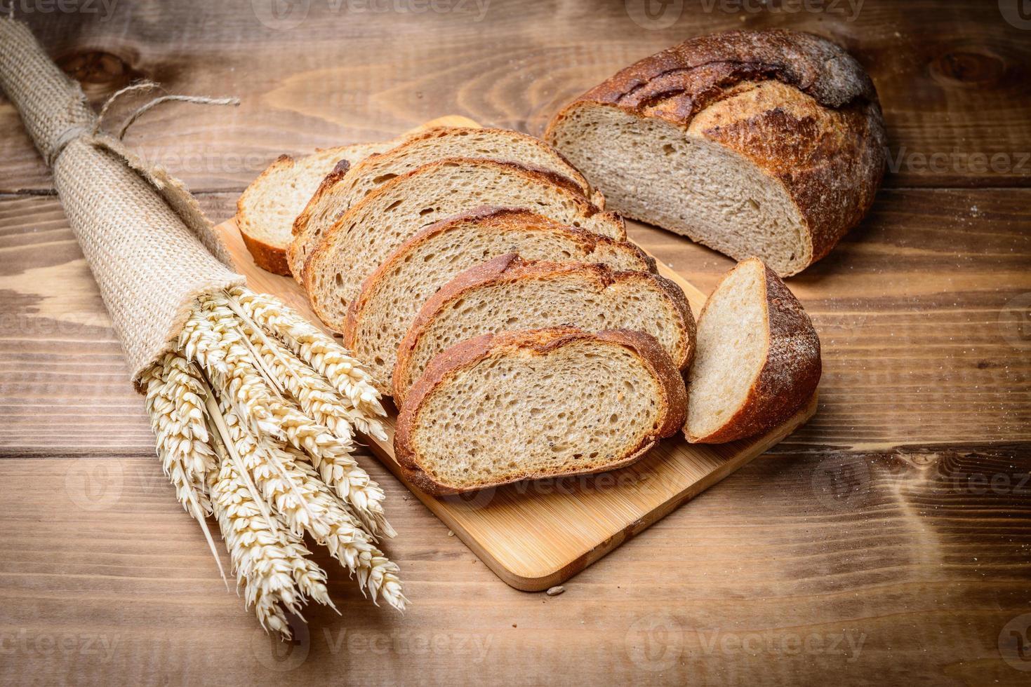Fatia de pão foto