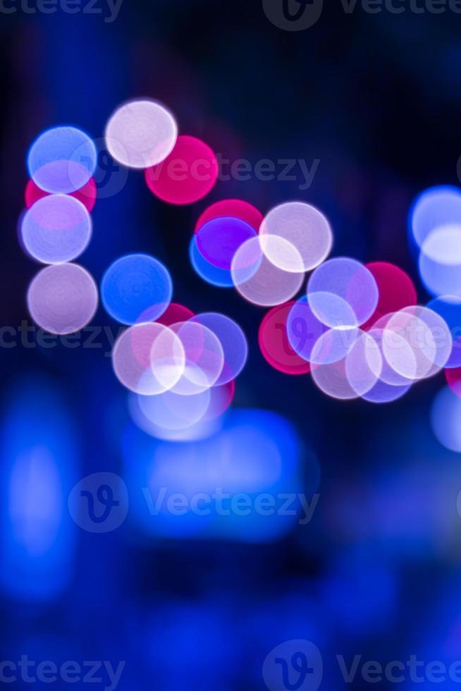 bokeh de luzes abstratas desfocadas foto