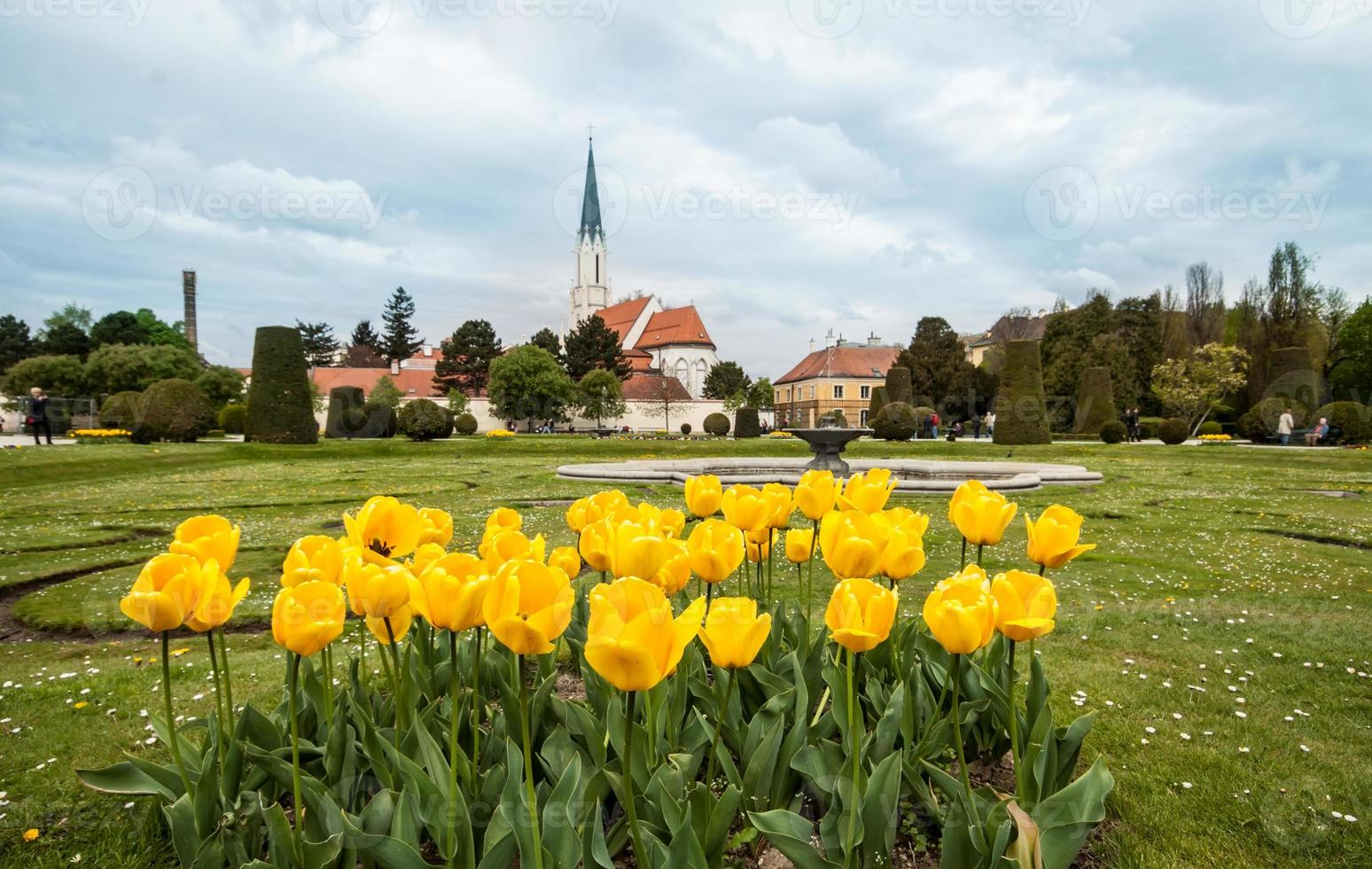 parque perto do palácio schoenbrunn foto