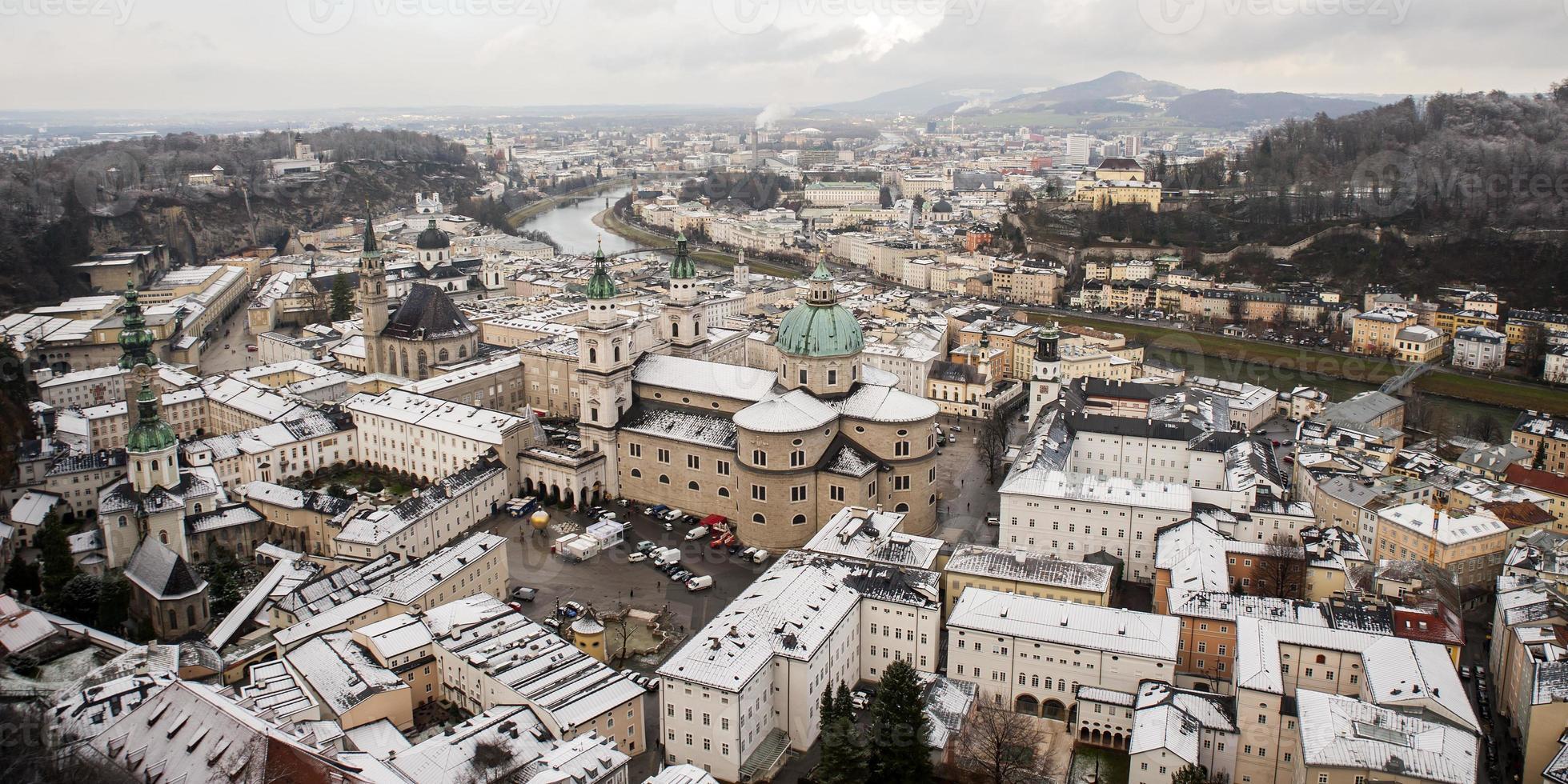 cidade de salzburg, áustria, europa foto