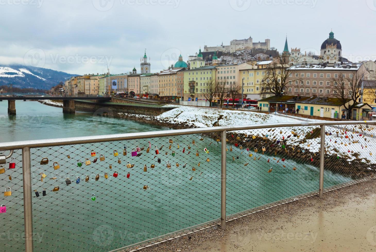 amo fechaduras em salzburg áustria foto