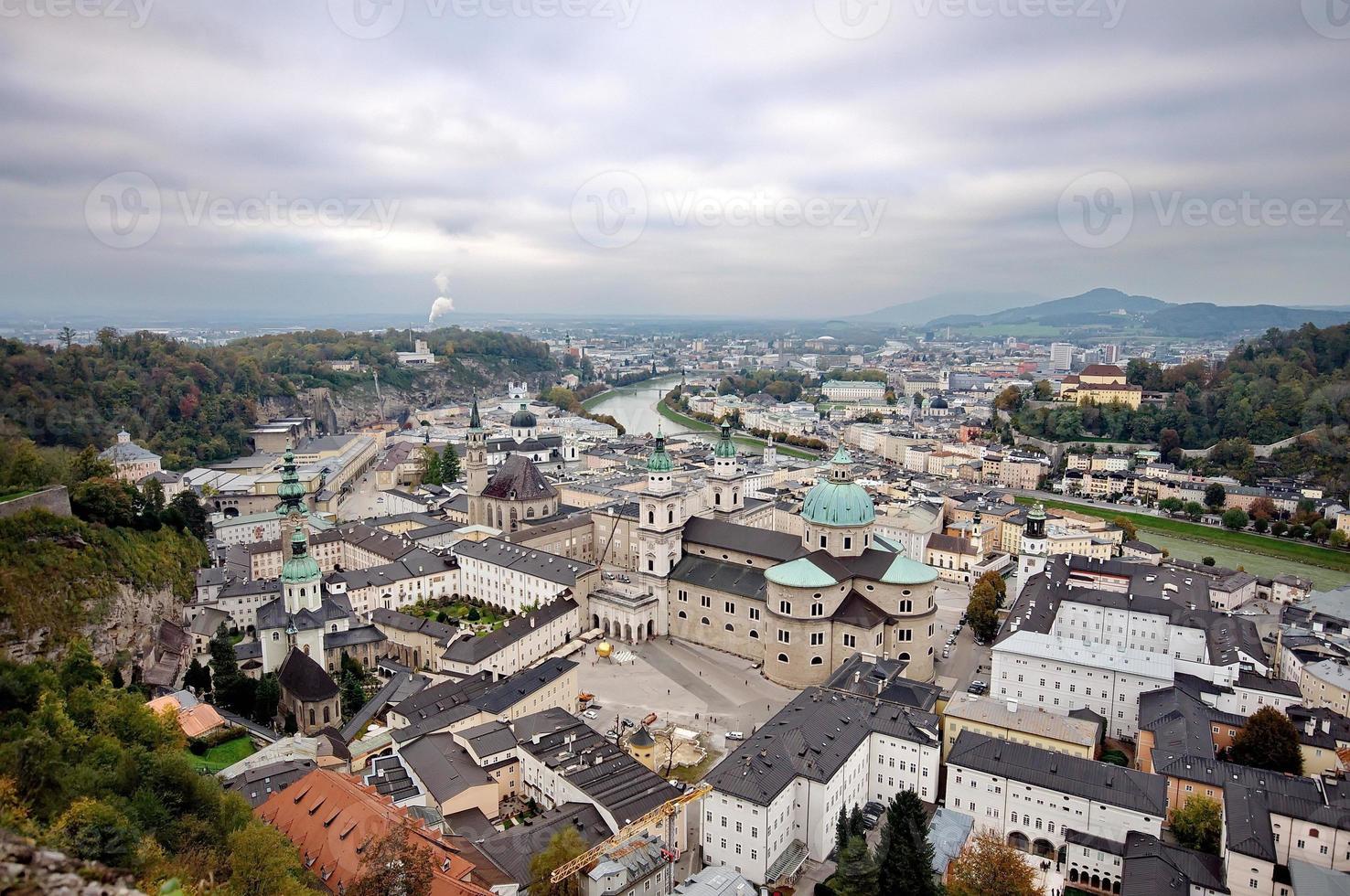 cidade de Salzburg da fortaleza foto