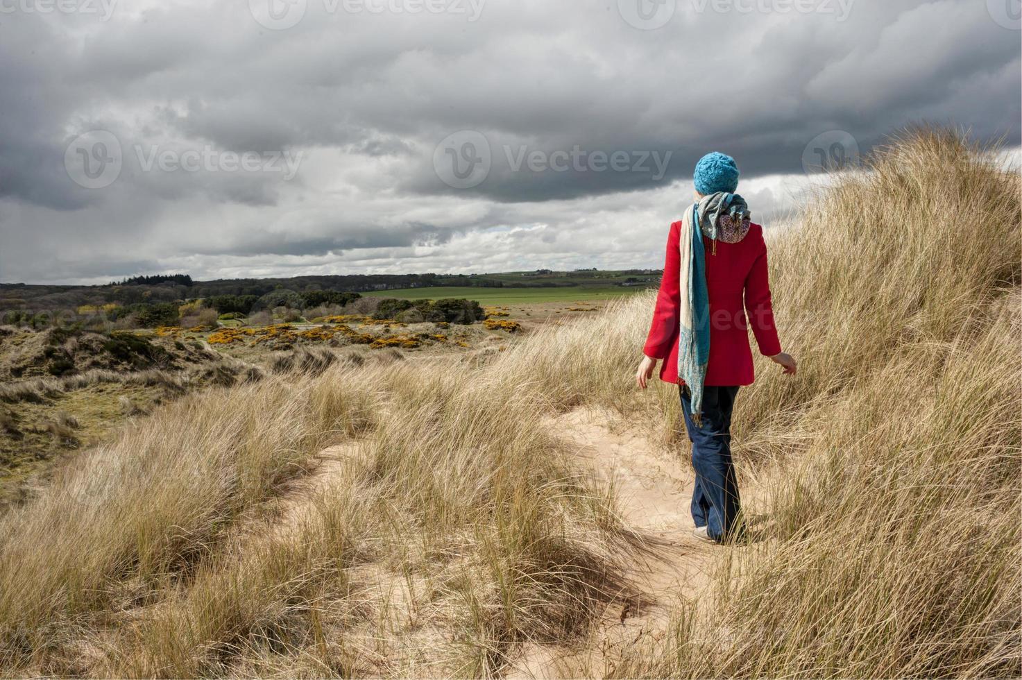 dunas de areia e vistas foto