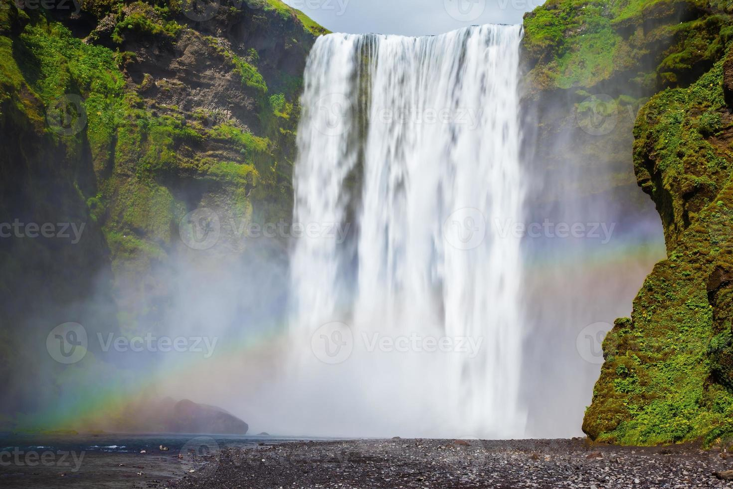 a cachoeira na Islândia foto