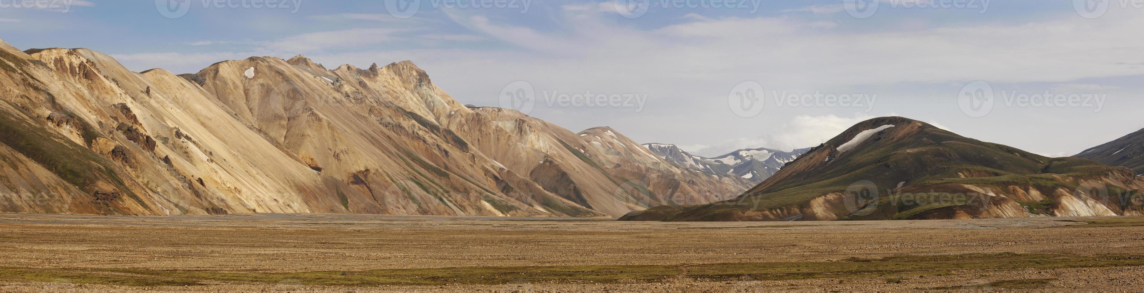 Islândia. área sul. fjallaback. paisagem vulcânica com formações de riolito. foto