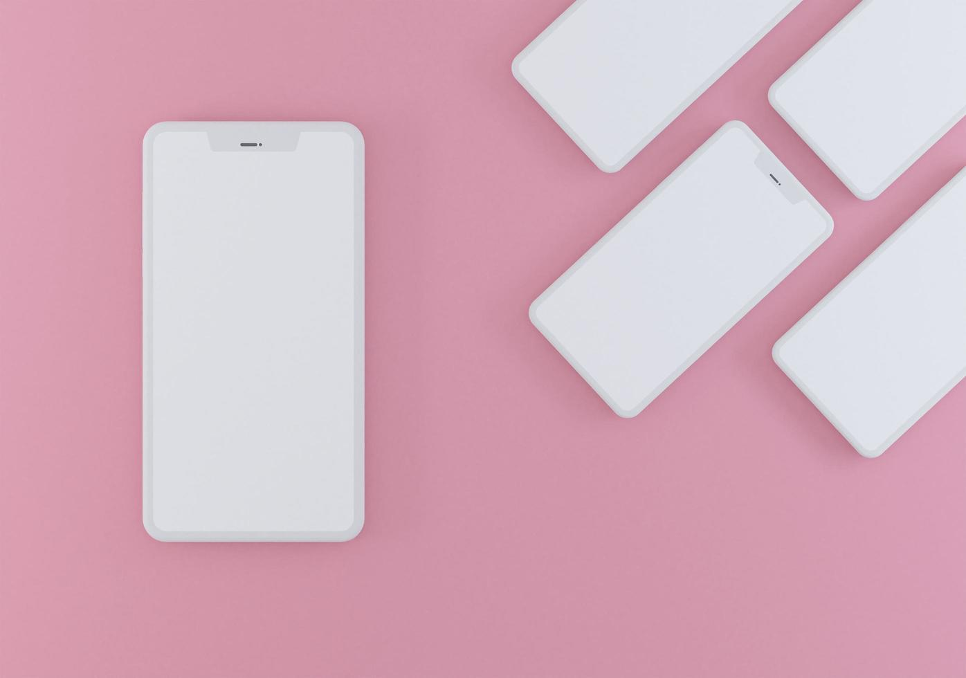smartphone moderno 3d rosa pastel foto