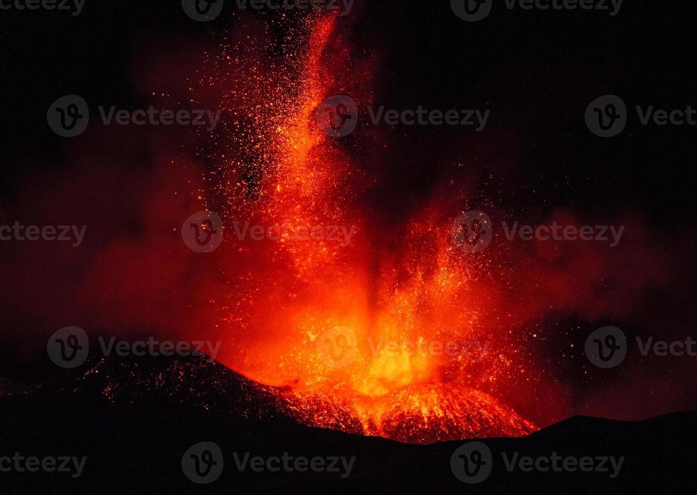 erupção etna foto