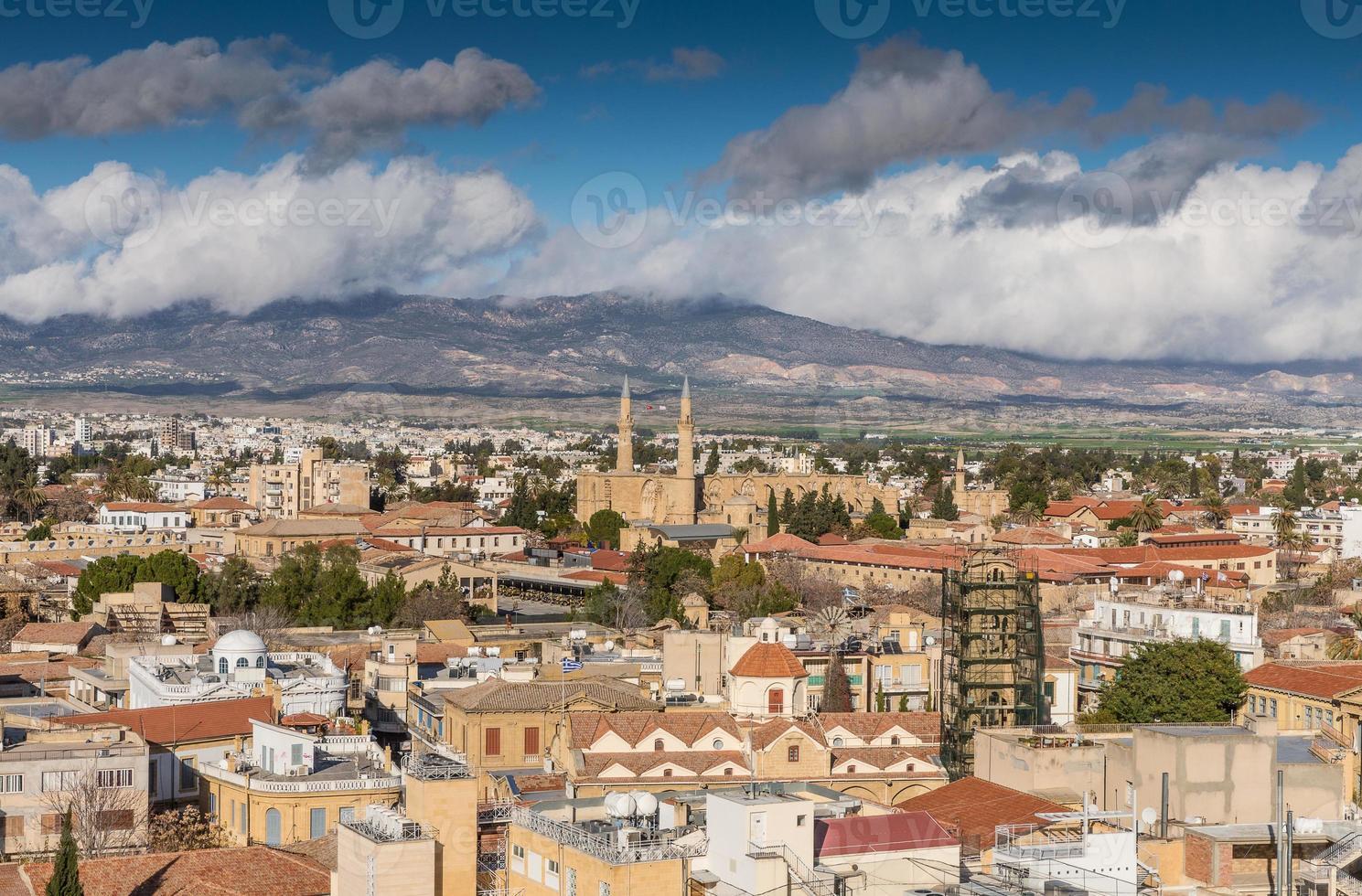 vista da cidade de Nicósia foto
