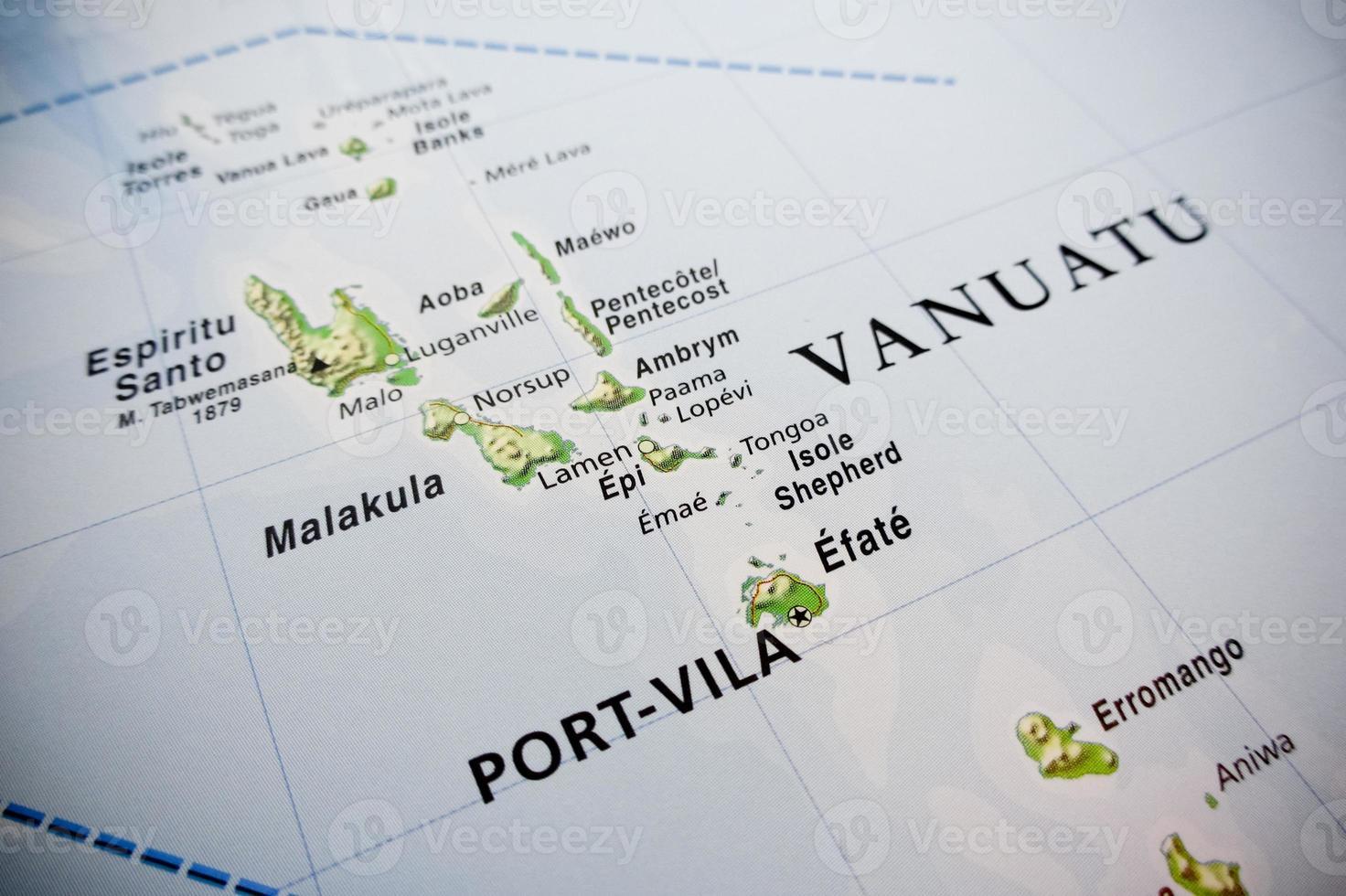 mapa das ilhas vanuatu foto