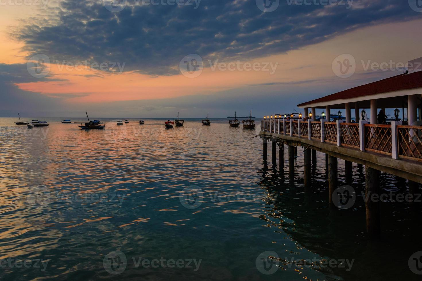 Sunset Stone Town Zanzibar foto