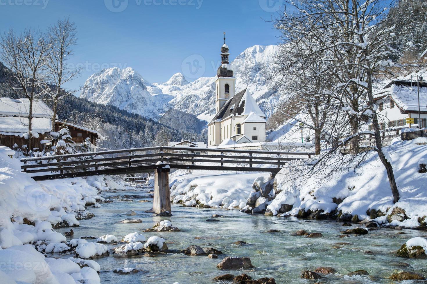ramsau no inverno, berchtesgadener land, bavaria, alemanha foto