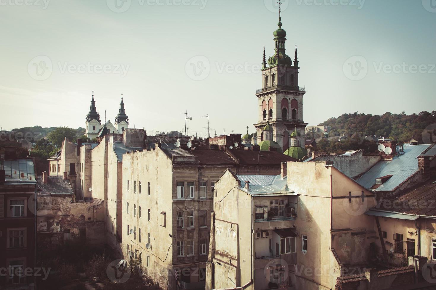 vista da catedral em altura foto