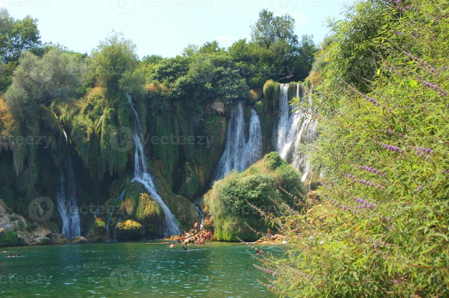 pitorescas cachoeiras kravica, Bósnia e Herzegovina foto