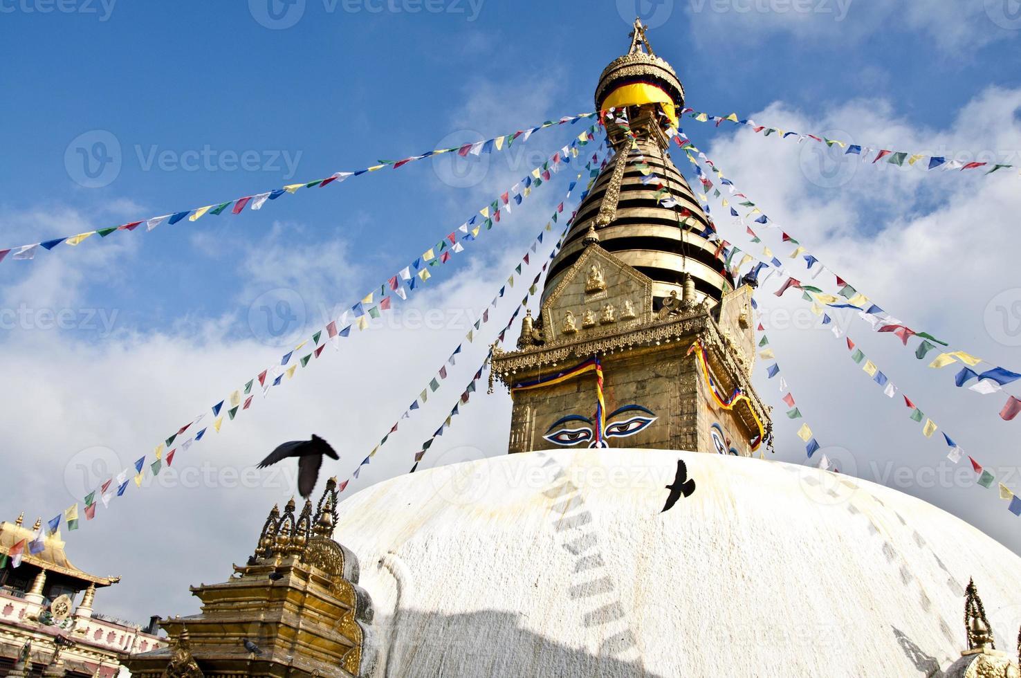 swayambhunath, templo do macaco, kathmandu, nepal foto
