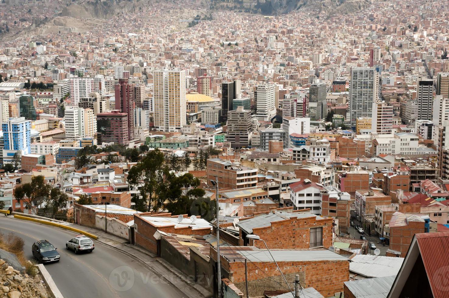la paz city - bolivia foto