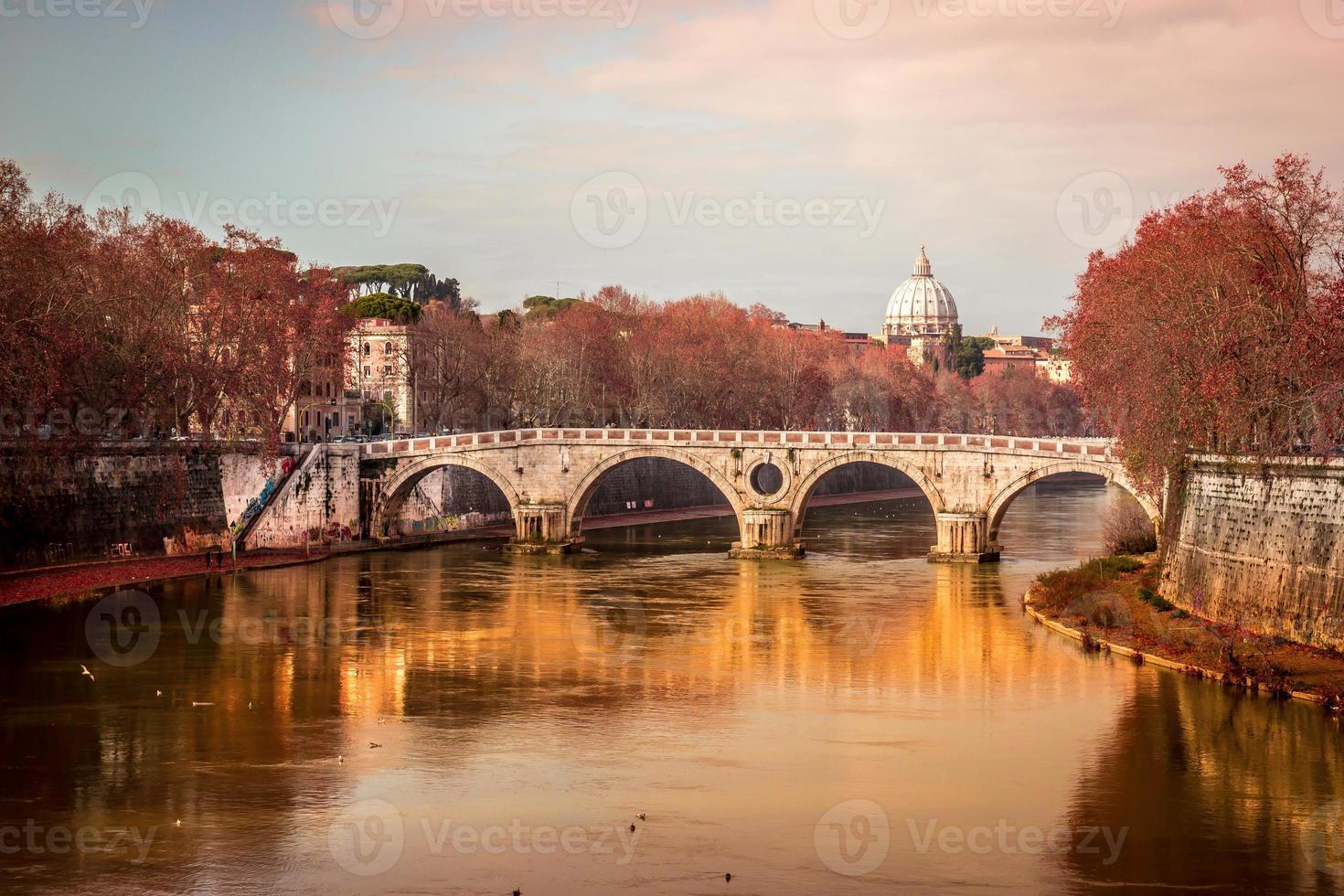 vista românica de roma foto