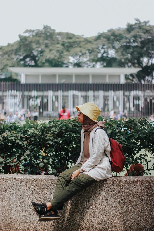 mulher não identificada na indonésia foto