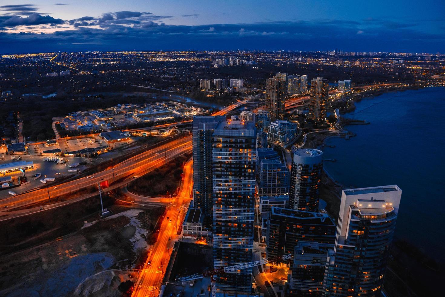 vista aérea de toronto, canadá foto