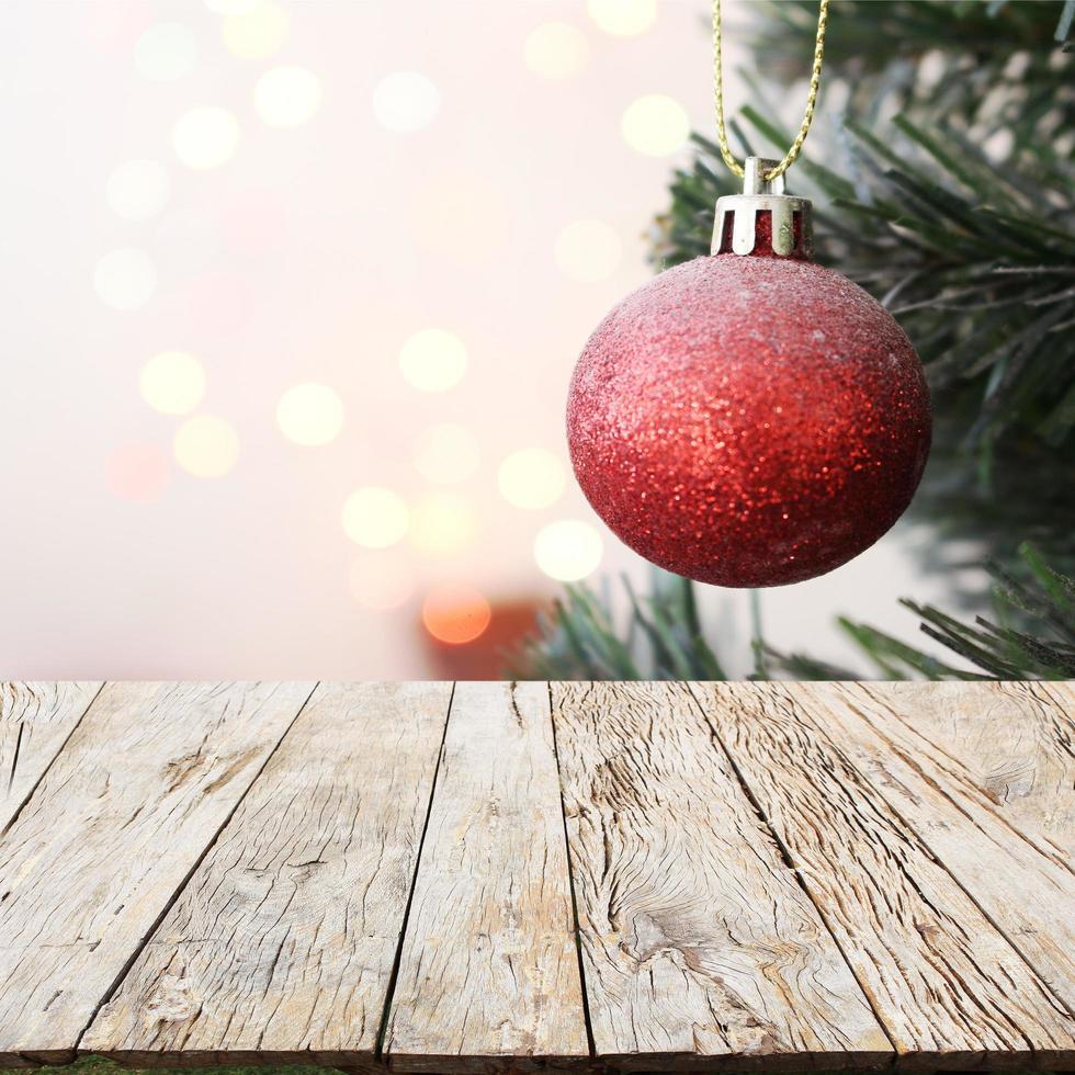 árvore de natal com decoração de fundo foto