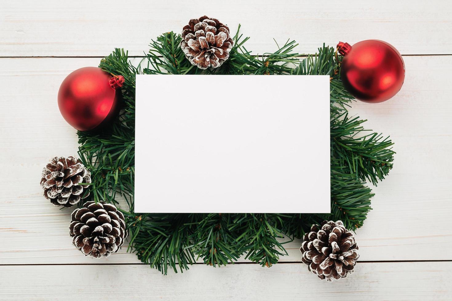 modelo de maquete de cartão de feliz natal foto