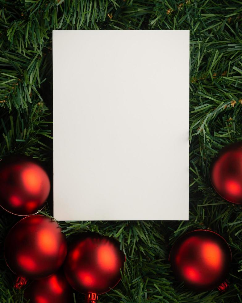 maquete de papel de feliz natal foto