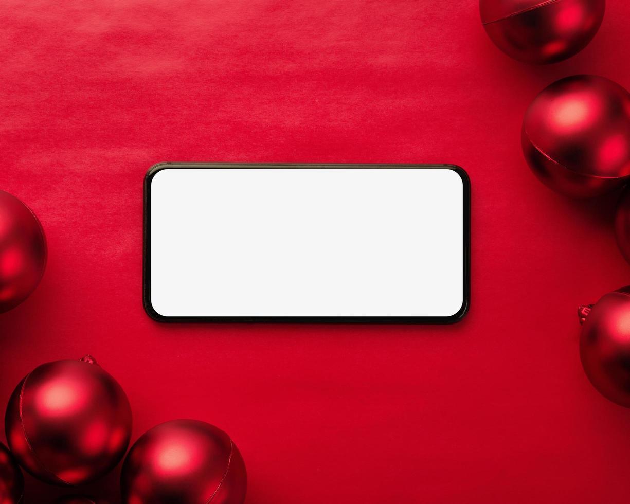 maquete de smartphone feliz natal foto