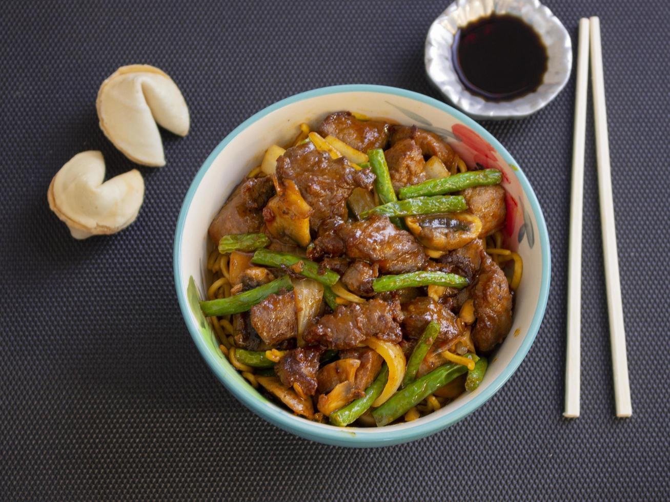 carne angus estilo chinês foto