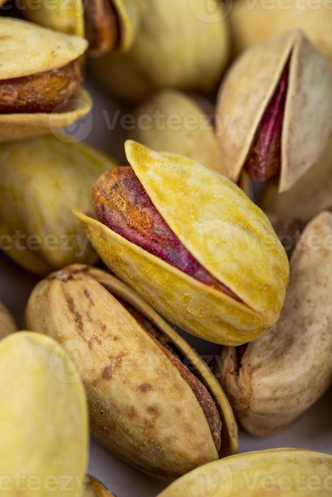 close-up de nozes de pistache foto