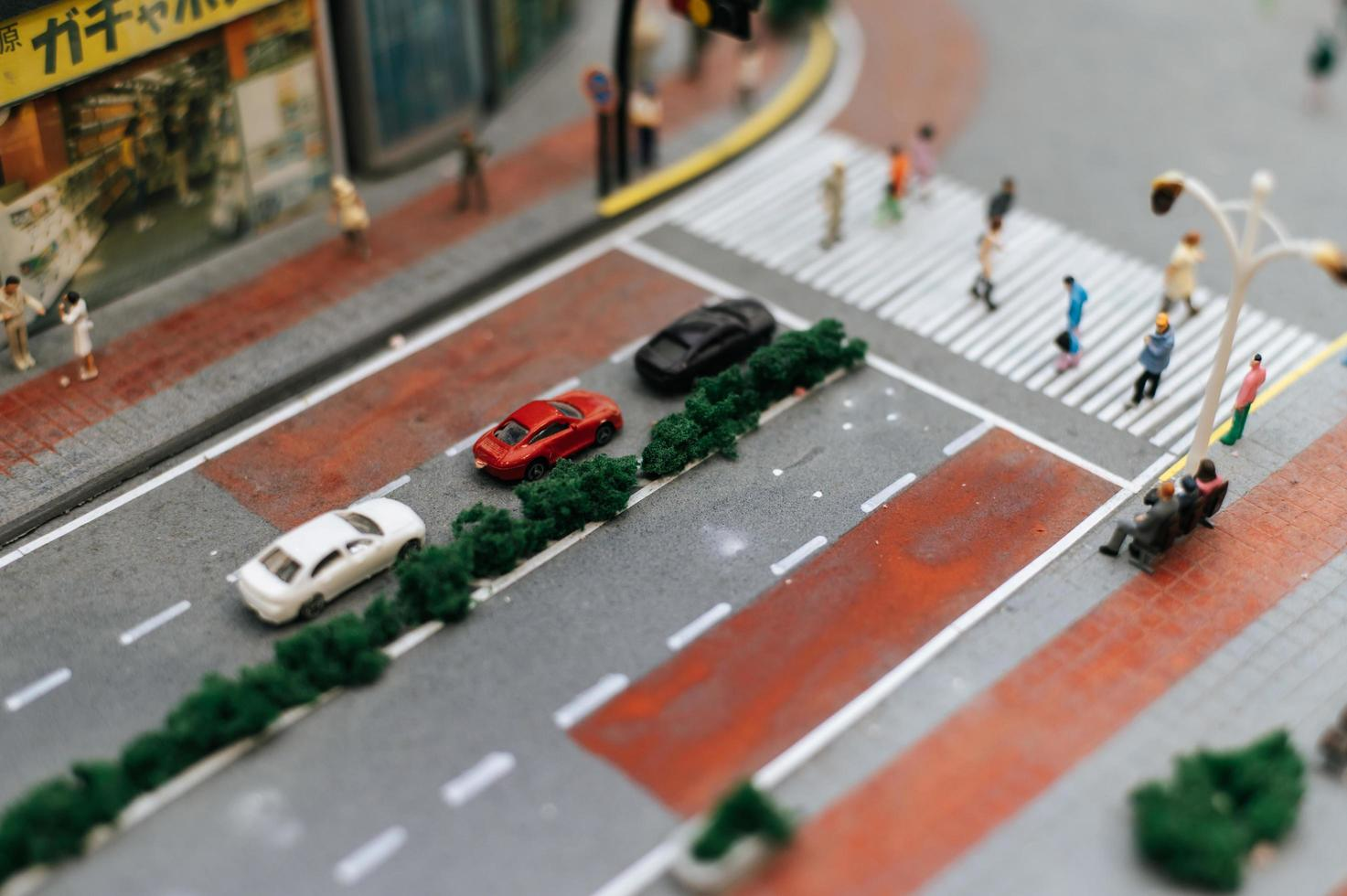 close-up do trânsito em miniatura foto